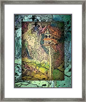 Twittering Muses Framed Print by Mindy Newman