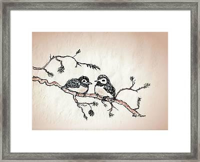 Two Birds Framed Print by Wendy McKennon