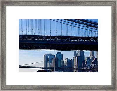 Two Bridges Framed Print by Andrea Simon