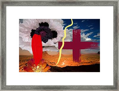 Two Cross Framed Print by Geronimo