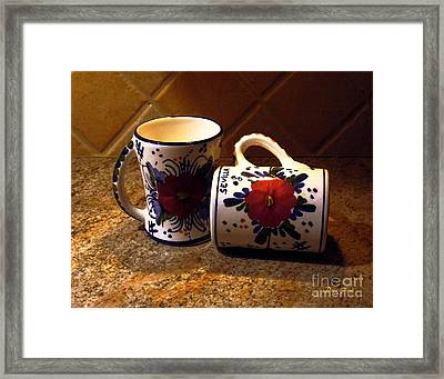 Two Cups Framed Print by Dale   Ford