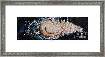 Two Galaxies Colliding Framed Print by Laara WilliamSen