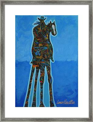 Two In Blue Framed Print by Lance Headlee