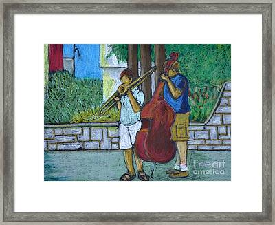 Two Musicians Framed Print by Reb Frost