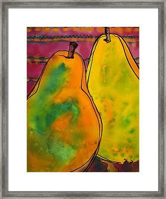 Two Pears Framed Print by Blenda Studio