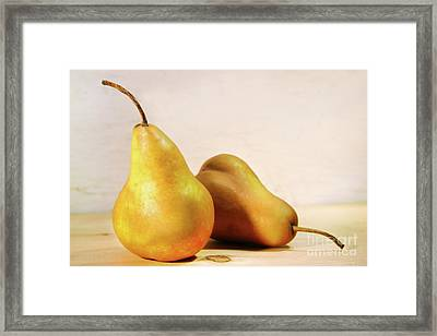 Two Pears Framed Print by Sandra Cunningham