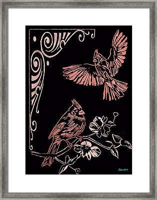 Two Red Cardies Framed Print by Jim Ross