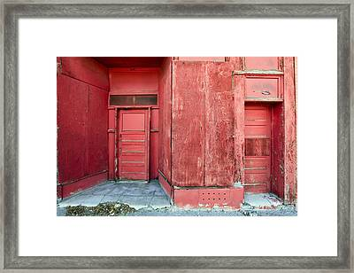 Two Red Doors Framed Print by James Steele