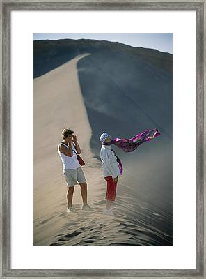 Two Tourist Are Transfixed Framed Print by Joel Sartore