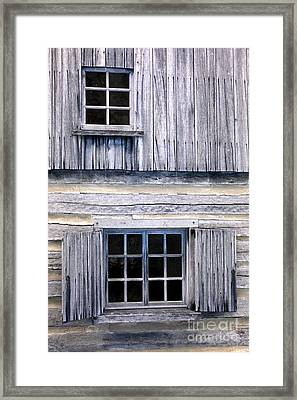 Two Windows Framed Print by Paul W Faust -  Impressions of Light