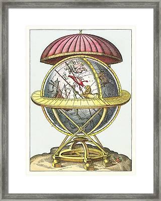Tycho's Great Brass Globe Framed Print by Detlev Van Ravenswaay