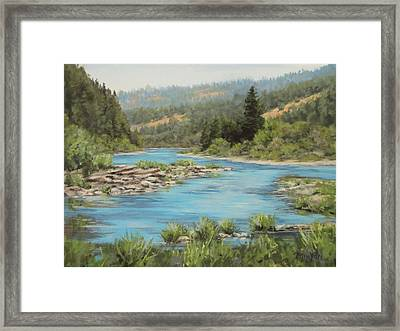 Tyee Morning Framed Print by Karen Ilari