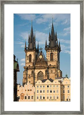 Tyn Church - Old Town Of Prague - Czech Republic Framed Print by Matthias Hauser