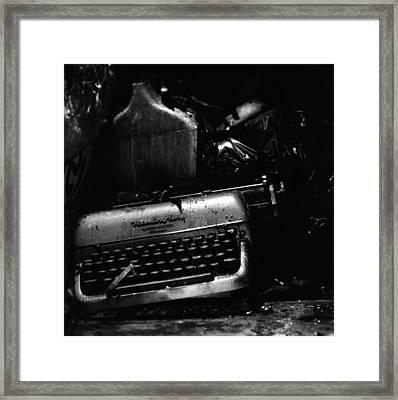 Typewriter Framed Print by Eric Tadsen