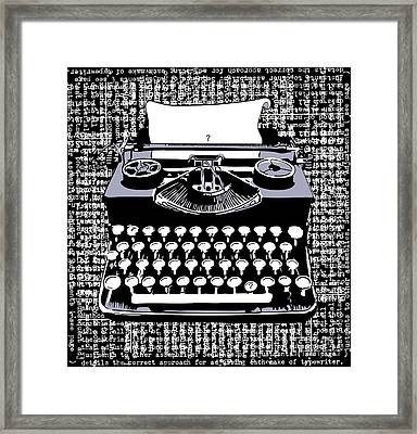 Typography Framed Print by Laura Brightwood