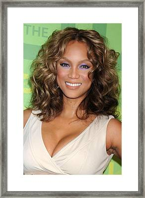 Tyra Banks At Arrivals For Part 2 - The Framed Print by Everett