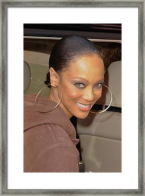 Tyra Banks, Leaves The Wendy Williams Framed Print by Everett