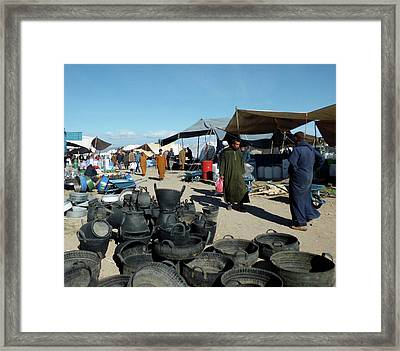 Tyred Of Recycling Framed Print by Miki De Goodaboom