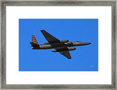 U-2 Flyover 3394 Framed Print by David Mosby