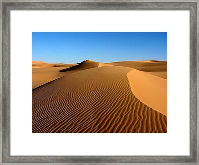 Ubari Sand Sea, Libyan Sahara Framed Print by Joe & Clair Carnegie / Libyan Soup