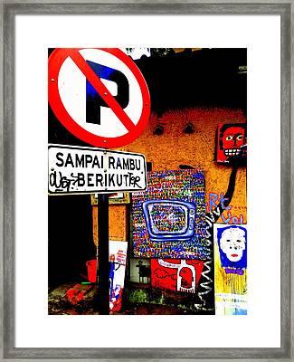 Ubud Art Street  Framed Print by Funkpix Photo Hunter