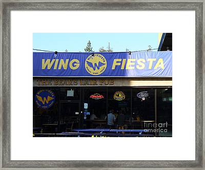 Uc Berkeley . Bears Lair Pub . 7d9980 Framed Print by Wingsdomain Art and Photography