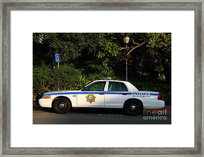 Uc Berkeley Campus Police Car  . 7d10178 Framed Print by Wingsdomain Art and Photography