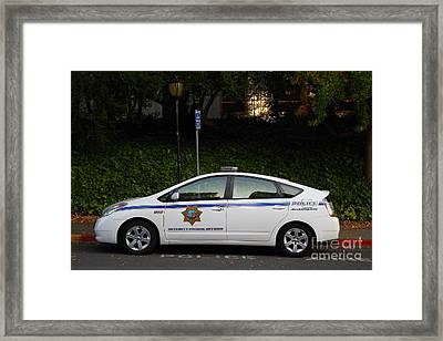 Uc Berkeley Campus Police Car  . 7d10181 Framed Print by Wingsdomain Art and Photography