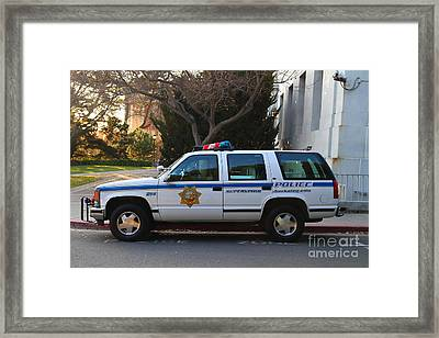 Uc Berkeley Campus Police Suv  . 7d10182 Framed Print by Wingsdomain Art and Photography