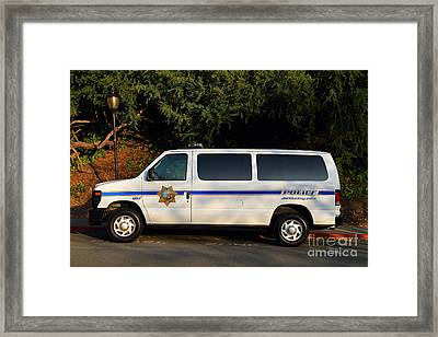 Uc Berkeley Campus Police Van  . 7d10180 Framed Print by Wingsdomain Art and Photography