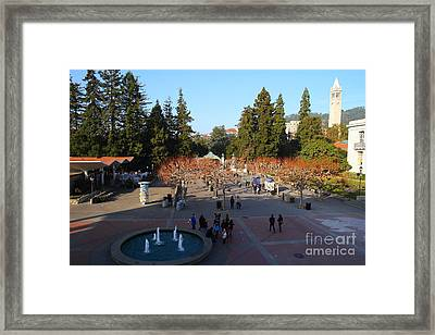 Uc Berkeley . Sproul Hall . Sproul Plaza . Sather Gate And Sather Tower Campanile . 7d10003 Framed Print by Wingsdomain Art and Photography
