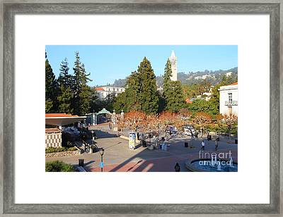 Uc Berkeley . Sproul Hall . Sproul Plaza . Sather Gate And Sather Tower Campanile . 7d10016 Framed Print by Wingsdomain Art and Photography