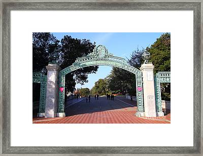 Uc Berkeley . Sproul Plaza . Sather Gate . 7d10033 Framed Print by Wingsdomain Art and Photography