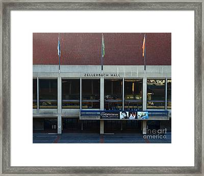 Uc Berkeley . Zellerbach Hall . 7d10013 Framed Print by Wingsdomain Art and Photography