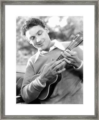 Ukelele Player, C1927 Framed Print by Granger
