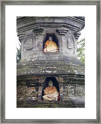 Ulun Danu Temple Statues Framed Print by Design Pics