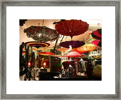 Umbrella Art Framed Print by Kym Backland