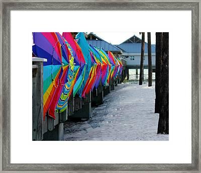 Umbrellas Framed Print by Shweta Singh