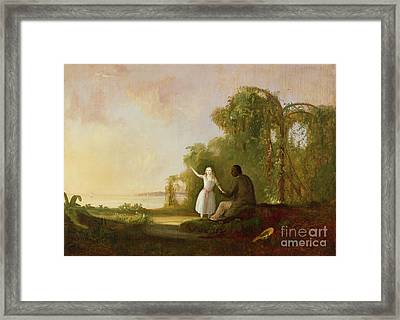 Uncle Tom And Little Eva Framed Print by Robert Scott Duncanson