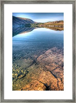 Under A Lake Framed Print by Svetlana Sewell
