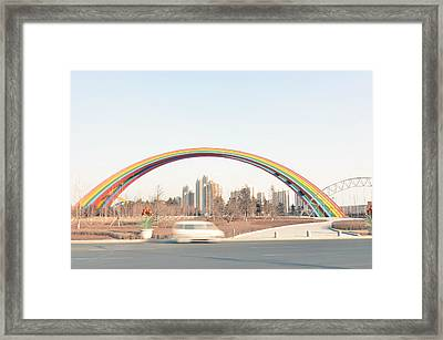 Under Rainbow Framed Print by Andy Brandl