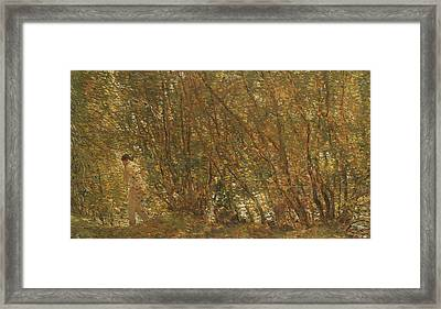 Under The Alders Framed Print by Childe Hassam