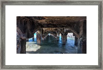 Under The Boardwalk Framed Print by James Roemmling