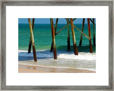 Under The Boardwalk Framed Print by Judi Bagwell