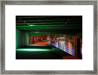 Under The Bridge Framed Print by Joann Vitali