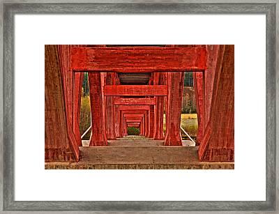 Under The Bridge Framed Print by Micael  Carlsson