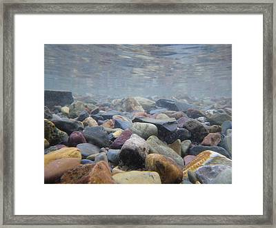 Under The Water In Glacier  Framed Print by John Harrison