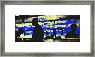 Underground - People Silhouette Serigraphic Arts Framed Print by Arte Venezia