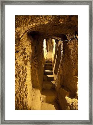 Underground Caves Derinkuyu Framed Print by Kantilal Patel