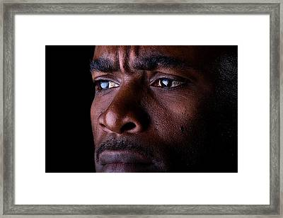Uneasy Thoughts Framed Print by Val Black Russian Tourchin
